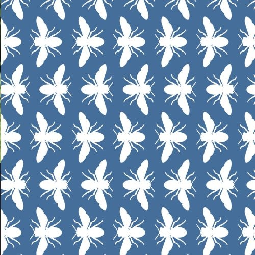 Bee Wrapping Paper - Blue or Green